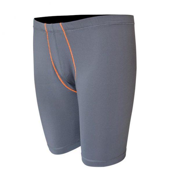 Base Layer Short Pant Grey-Orange-Depan