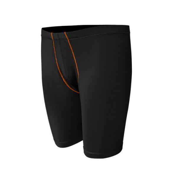 Base Layer Short-Pants-Black-Orange-Depan