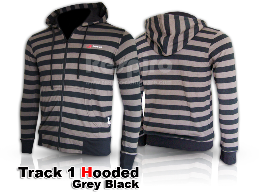 Track1 hooded greyblack