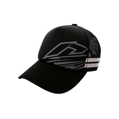 Cap-Trucker-Stripe-Black-Depan