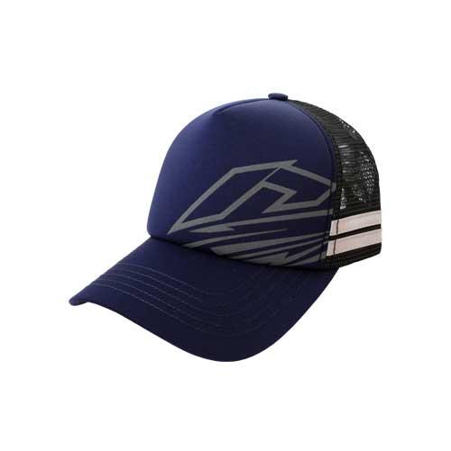 Cap-Trucker-Stripe-Dark-Blue-Depan