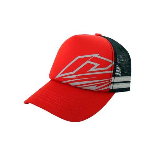 Cap-Trucker-Stripe-Red-Depan